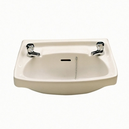 Twyford Classic Basin 560 2 Tap Hole White Cc4212wh