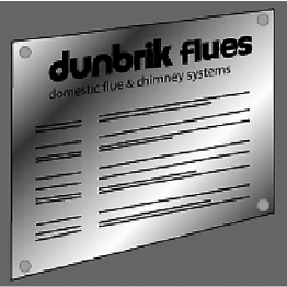 Dunbrik Flue Notice Plates