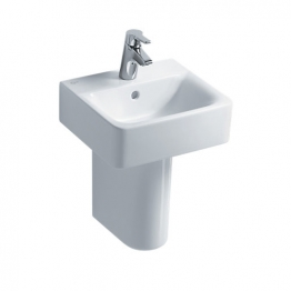 Ideal Standard Concept Cube 40cm Handrinse Washbasin, 1 Taphole Witap Holeoverflow White E803101 Basin Only