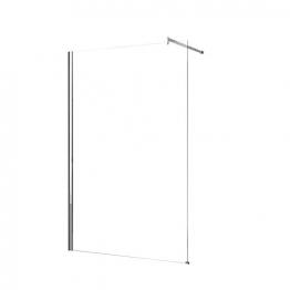 Novellini Kuadh120-1k Kuadra Clear Glass Chrome