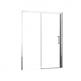 Novellini Kuad2p114d-1k Kuadra Clear Glass Chrome