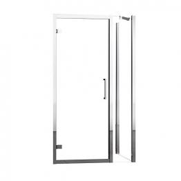 Novellini Kuadgf114-1k Kuadra Gandf Clear Glass Chrome 2 Pack