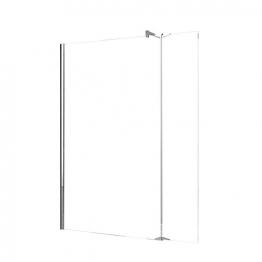 Novellini Kuadh278-1k Kuadra Clear Glass Chrome