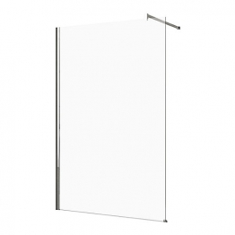 Novellini Kuadra H 60 Adjustment Size.60-63 Cm Clear Glass Chrome Kuadh60-1k