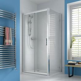 Iflo Ravana Sliding Door Shower Enclosure In Chrome Pack 2 Of 2 1400mm