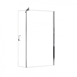 Novellini Gon278-1k Go 2 Clear Glass Chrome