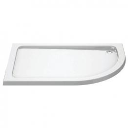 Iflo 1000 X 800 Mm Left Hand Offset Quadrant Abs Slimline Shower Tray