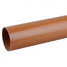 Osmadrain Drainage Plain End Slotted Pipe 110mm X 6m