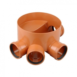 Osmadrain Drainage Chamber Base 45/90degree Left Hand 110mm