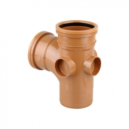 Osmadrain Drainage Single Socket Equal Junction 87degree 110mm