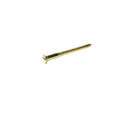 Screws 12g 3' Slotted Brass Countersunk Head (box Of 100)