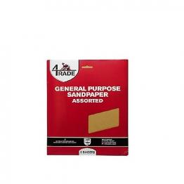 4 Trade General Purpose Sandpaper 5 Pack