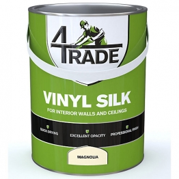 4 Trade Vinyl Silk Emulsion Paint Magnolia 5l