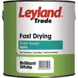 Leyland Fast Drying Water Based Satin 2.5l Brilliant White Paint
