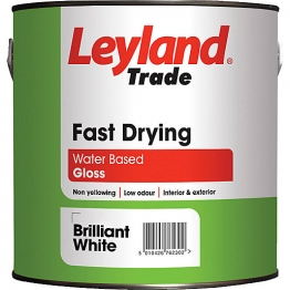 Leyland Fast Drying Water Based Gloss 2.5 Brilliant White Paint