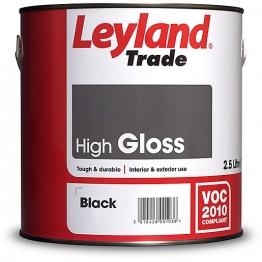 Leyland High Gloss 2.5l Black Paint