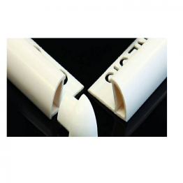 Genesis 8mm White Plastic Trim Corner Pieces External Pack Of 100 Pdl803.01