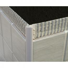 Genesis 6mm White Round Edge Tile Trim Etr608.01