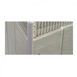 Genesis 10mm White Round Edge Tile Trim Etr108.01