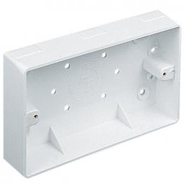 Marshall Tufflex 25mm 2 Gang Square Trunking Box Mssb13wh