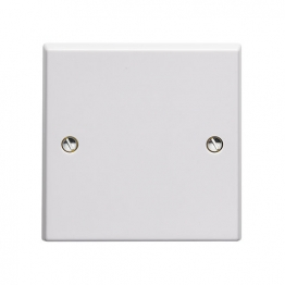 Volex White Moulded 13a Flexible Outlet Plate With Pillar Type Terminals