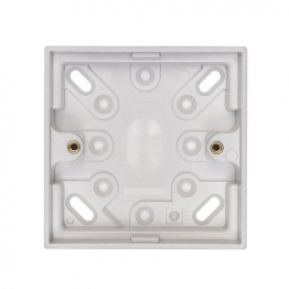 Volex White Moulded 1 Gang Surface Box 29mm Deep