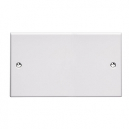 Volex White Moulded 2 Gang Blanking Plate