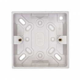 Volex White Moulded 1 Gang Surface Box 42mm Deep