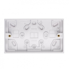 Volex White Moulded 2 Gang Surface Box 29mm Deep