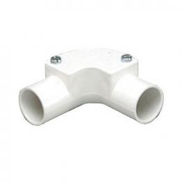 Mk Egatube 20mm Conduit Inspection Elbow White Eie2bqwhi