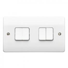Mk Light Switch 4 Gang 10a 2 Way K4874whi
