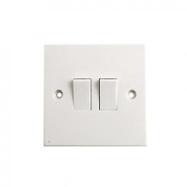 4trade Light Switch 10 Amp 2 Gang 2 Way