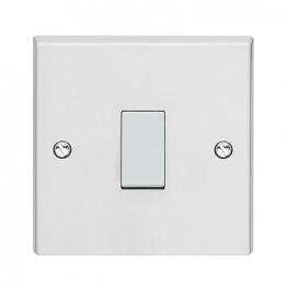 Volex White Moulded 20a Double Pole Control Switch