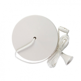 Volex Cord & Acorn For White Moulded Ceiling Switches