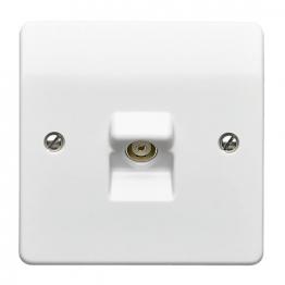Mk Single Coaxial Socket Tv/fm Socket K3520whi