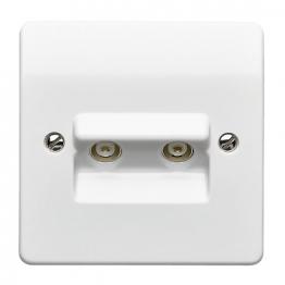 Mk Twin Coaxial Socket Tv/fm Socket K3523whi