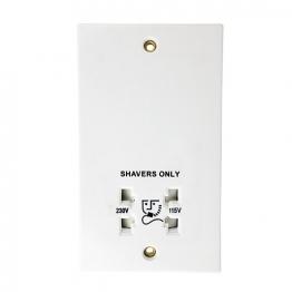 4 Trade Shaver Socket Dual Outlet 115/230v
