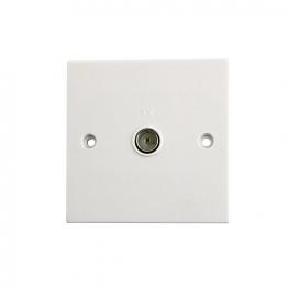 4trade Coaxial Wall Plate Socket