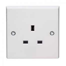 Volex White Moulded 13a 1 Gang Unswitched Socket Outlet