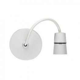 Volex White Moulded 6in T2 Heat Resistant Pendant Set With Flexible Pvc Cable