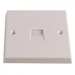 Volex White Moulded 1 Gang Telephone Secondary Outlet