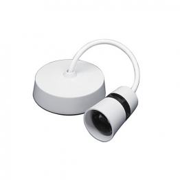 Volex White Moulded 6in T2 Safety Pendant Set With Heat Resistant 0.75mm
