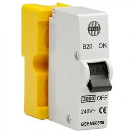 Wylex Std Mcb 20a Yellow B20