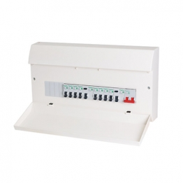 Schneider Easy9 17th Edition Dual Rcd Consumer Unit 12 Way 6+6 And 10 Mcb's
