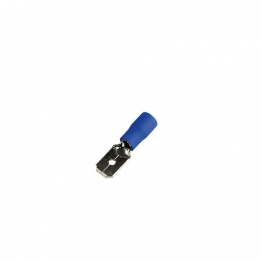 4 Trade Blue 6.3mm Male Crimp Pack Of 100