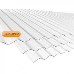 Corrapol Clear Corrugated Sheet 840mm X 2440mm