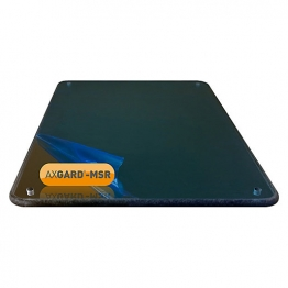 Axgard Msr Mirror Glazing Sheet 6mm 1500 X 320mm With Quarter Round Cnc Edge, Radius Corners & Corner Holes