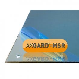 Axgard Msr Mirror Glazing Sheet 3mm 490 X 390mm With Quarter Round Cnc Edge And Corner Holes