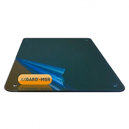 Axgard Msr Mirror Glazing Sheet 3mm 490 X 660mm With Quarter Round Cnc Edge, Radius Corners & Corner Holes