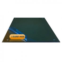 Axgard Msr Mirror Glazing Sheet 3mm 1500 X 660mm With Quarter Round Cnc Edge And Corner Holes